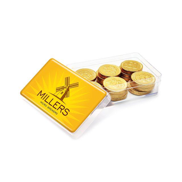 Maxi Rectangle Pot – Chocolate Coins