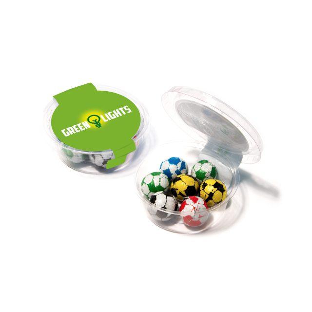 Eco Range – Eco Midi Pot – Chocolate Footballs