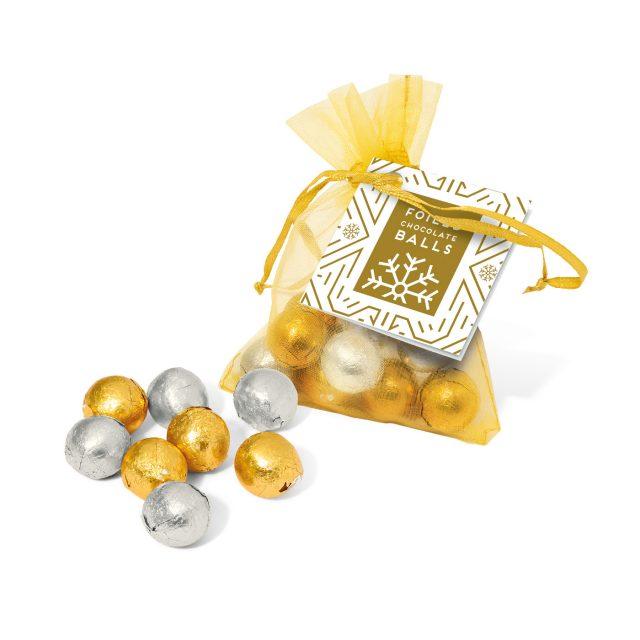 Organza Bag – Foiled Chocolate Balls