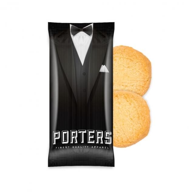Paper Flow Bag – Mini Shortbread Biscuits – x2