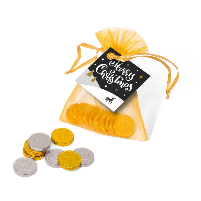 Winter Collection 2020 – Organza Bag – Chocolate Coins