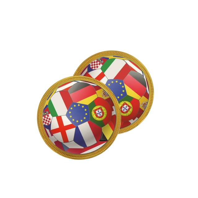 Euro 2021 – Chocolate Medallion – 75mm