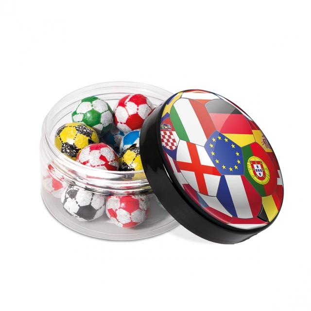 Euro 2021 – Screw Top Jar – Chocolate Footballs