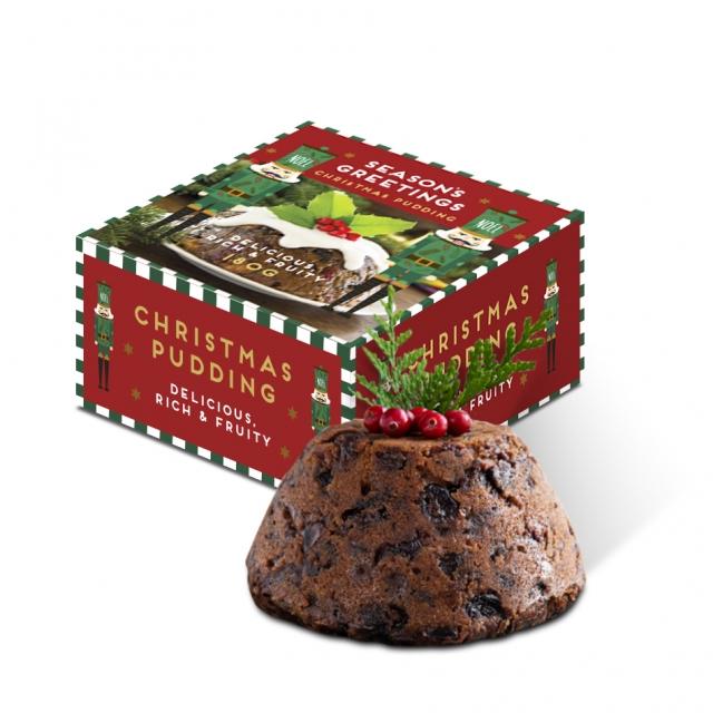 Winter Collection – Eco Maxi Pudding Box – 180g Christmas Pudding