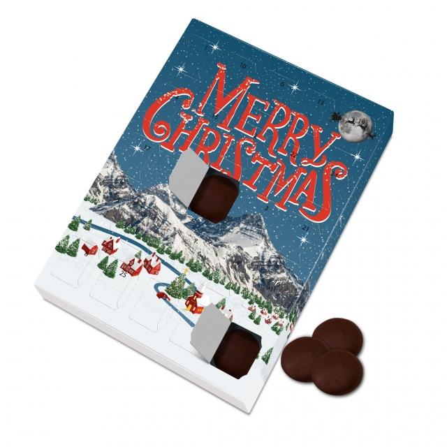 Winter Collection – Large Advent Calendar – Dark Vegan Chocolate Discs